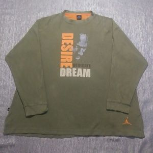 Large Army Green and Orange Thermal Shirt!
